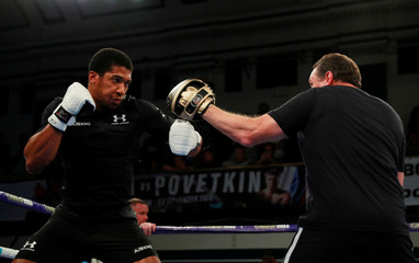 Anthony Joshua and Alexander Povetkin Public Work-Outs