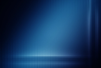 Dark blue abstract background with vertical and horizontal lines and neon glow
