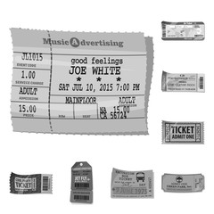 Isolated object of ticket and admission logo. Set of ticket and event vector icon for stock.