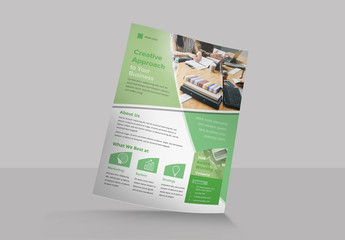 Flyer Layout with Diagonal Curve Elements
