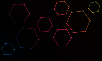 Hexagon chemistry molecules