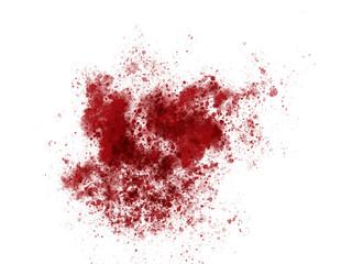 Blood red paint ink splatter sample background