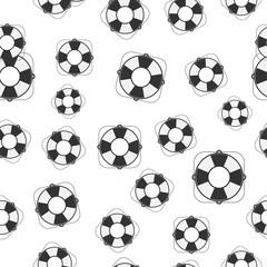 Seamless Lifebuoy Pattern.Vector Illustration