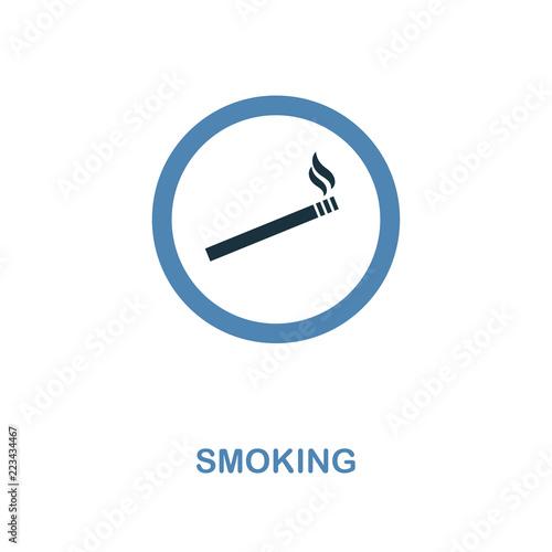 Smoking icon  Monochrome style design from shopping center