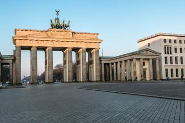 Foto op Aluminium Berlijn The Brandenburg Gate in Berlin at sunrise, Germany