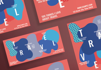 Flyer Layout with Abstract Elements
