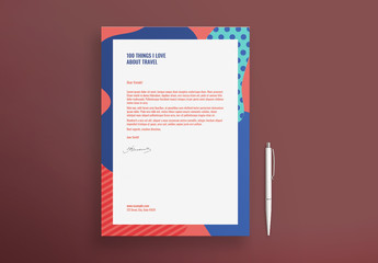 Letterhead Layout With Abstract Elements