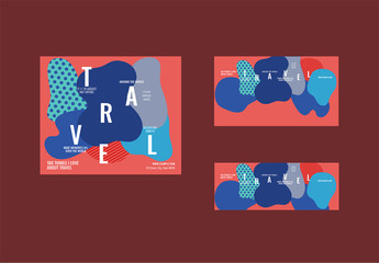 Social Media Cover And Post Layout With Abstract Elements