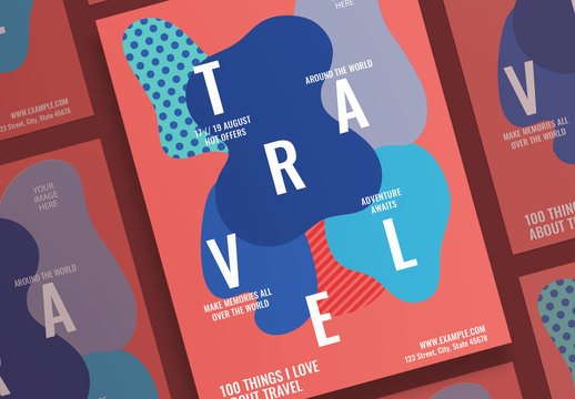 Poster Layout with Abstract Elements