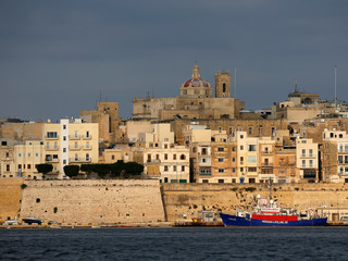 The humanitarian charity rescue ship MV Lifeline, is seen berthed in Senglea in Valletta's Grand Harbour