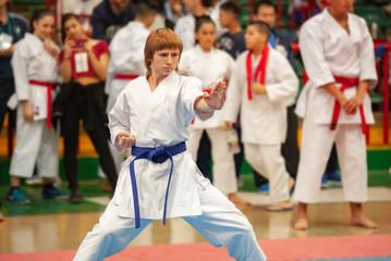 guy karate does kata at the championship