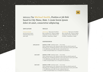 Minimal Resume Layout