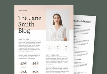 Blogger Media Kit Layout