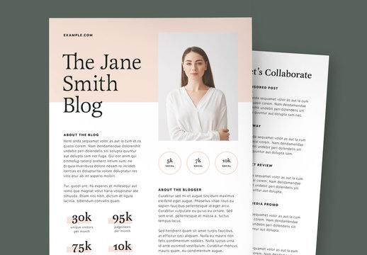 Blogger Media Kit Layout