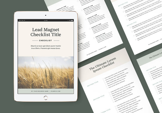 Checklist Booklet Layouts