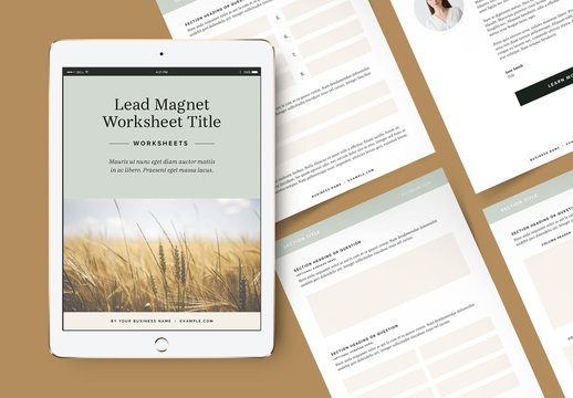 Worksheet Booklet Layouts