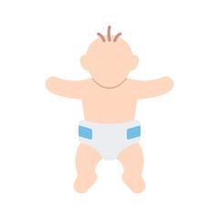 A baby in a diaper