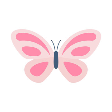Butterfly with pink crayons
