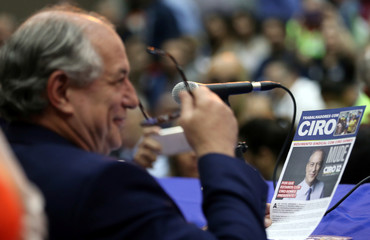 Presidential candidate Ciro Gomes attends a campaign rally in Sao Paulo