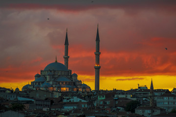 Mosque in Istanbul Sunset
