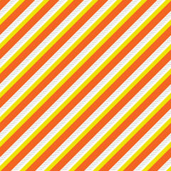 Seamless Vector Halloween Candy Corn Orange, Yellow, White, and Gray Diagonal Stripe Repeat Pattern
