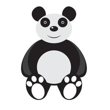 Isolated stuffed panda toy