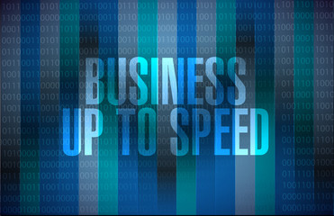 Business up to speed binary message concept