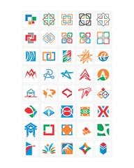 variation mixed abstract ornament image vector icon logo symbol set
