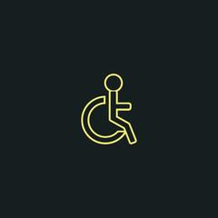 Handicap vector Icon