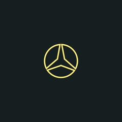 three-beam star icon