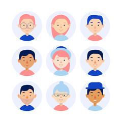 Character Avatar Icons Set