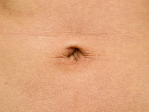 Man's belly button