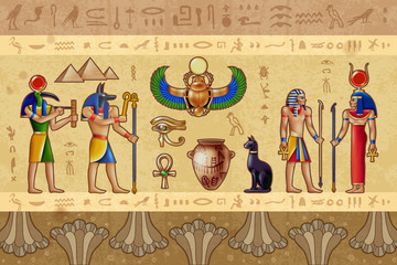 Egypt Horizontal Illustration