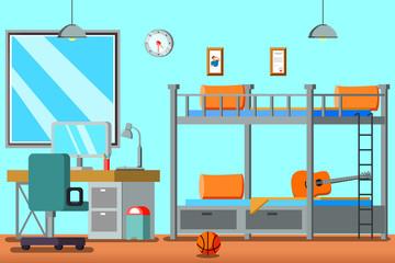 Boy Teen Room Flat Composition