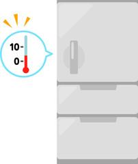 冷蔵庫と温度計