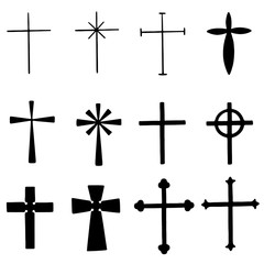 Set of Various Crosses Both Simple and Ornamental