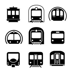 Subway metro icon. Vector elements. Can use for your design, interface, website, infographic and etc.