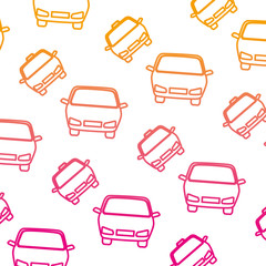 taxi and cars pattern