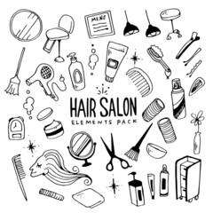 Hairsalon Illustration Pack