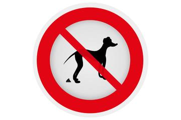 Hundehaufen - Verbotsschild