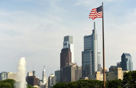 Philadelphia cityscape, PA, USA