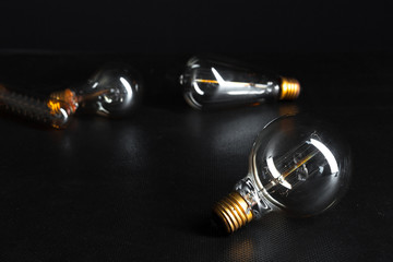 edison bulb close up.