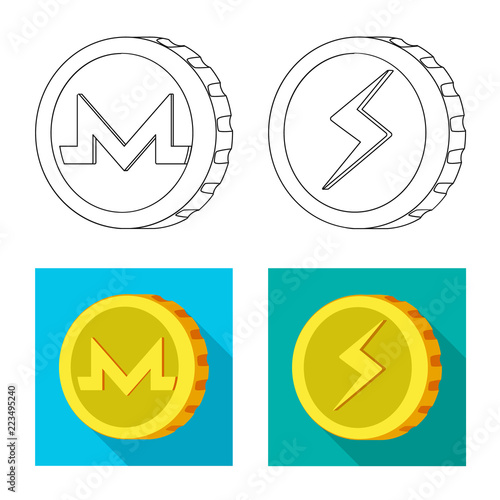 Vector Design Of Cryptocurrency And Coin Symbol Collection Of