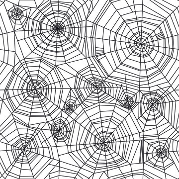 Abstract spider web Halloween seamless pattern