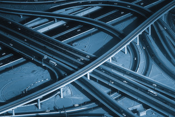 Highway road intersection in Downtown Burj Dubai