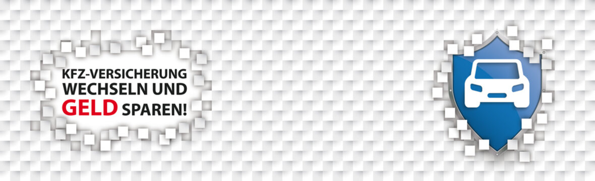 Checkered Paper Headline Tiles Kfz Versicherung Wechseln