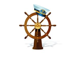 Captain'shat on hips wheel.
