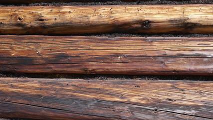 Berghütte Wand Holz