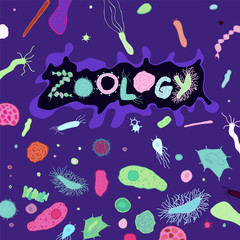 Zoology Bacteria Lettering