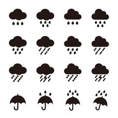 雨 天気 アイコン
